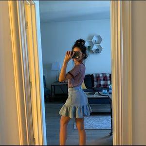 PAC Sun Jean Skirt / Brandy Melville Maroon Shirt